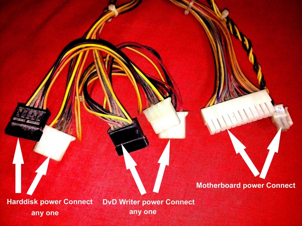 Power Supply port কম্পিউটার পাওয়ার সমস্যা