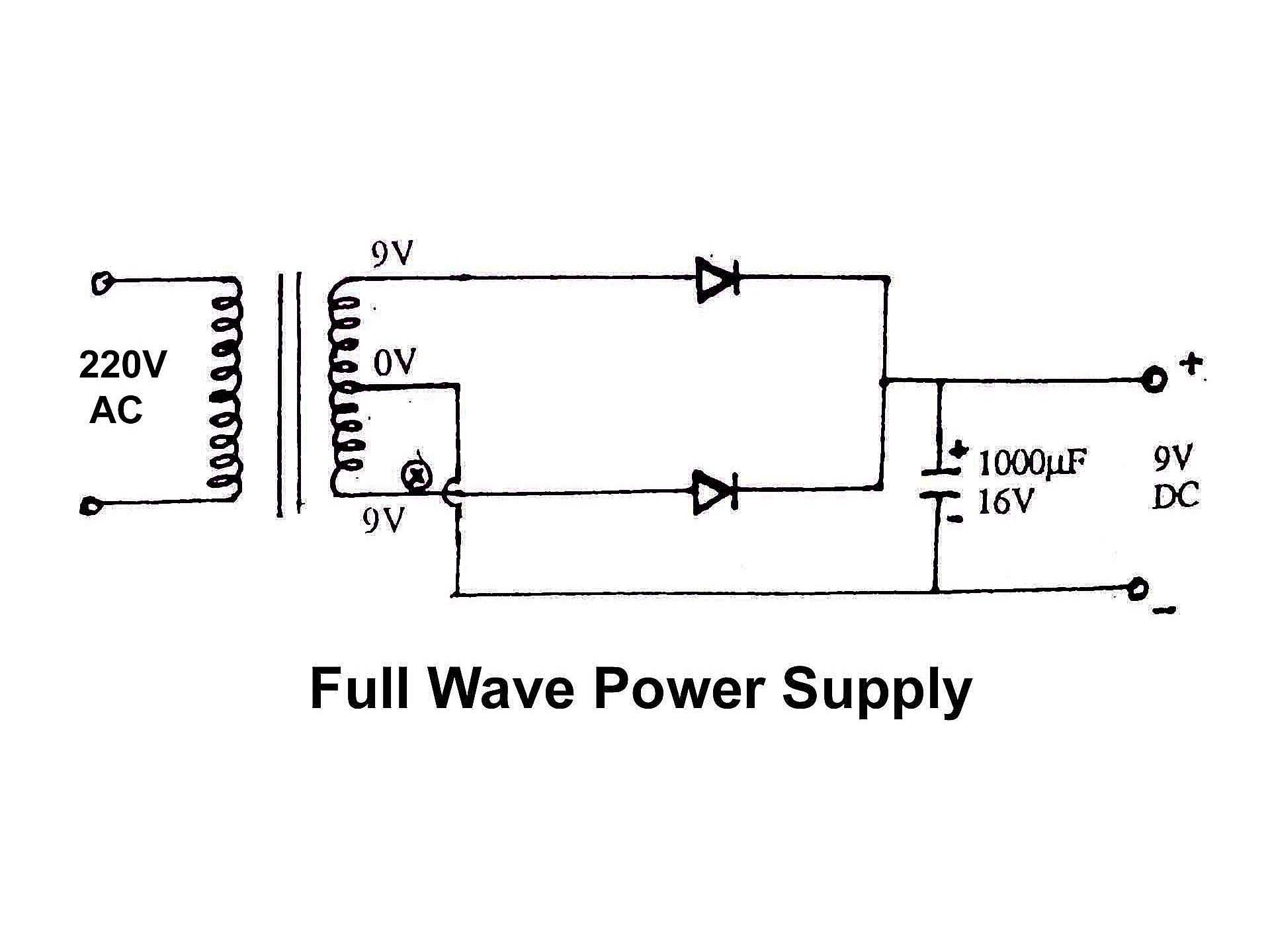 Full Wave Power Supply Diagram