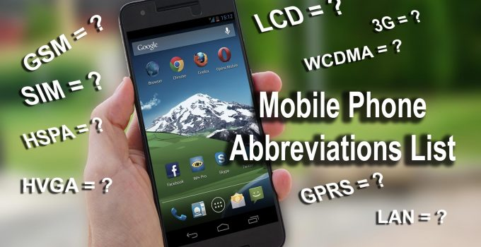 mobile phone abbreviations list