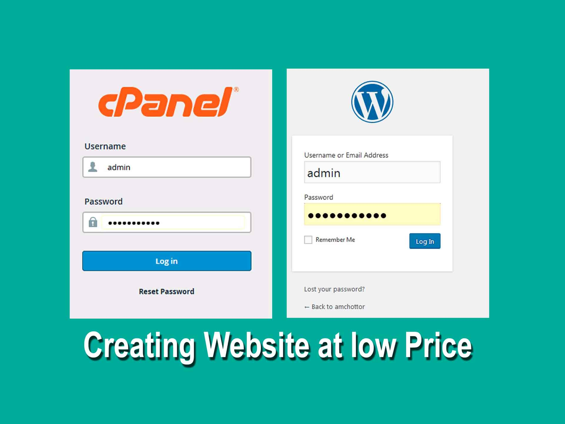 How to Creating website at low price