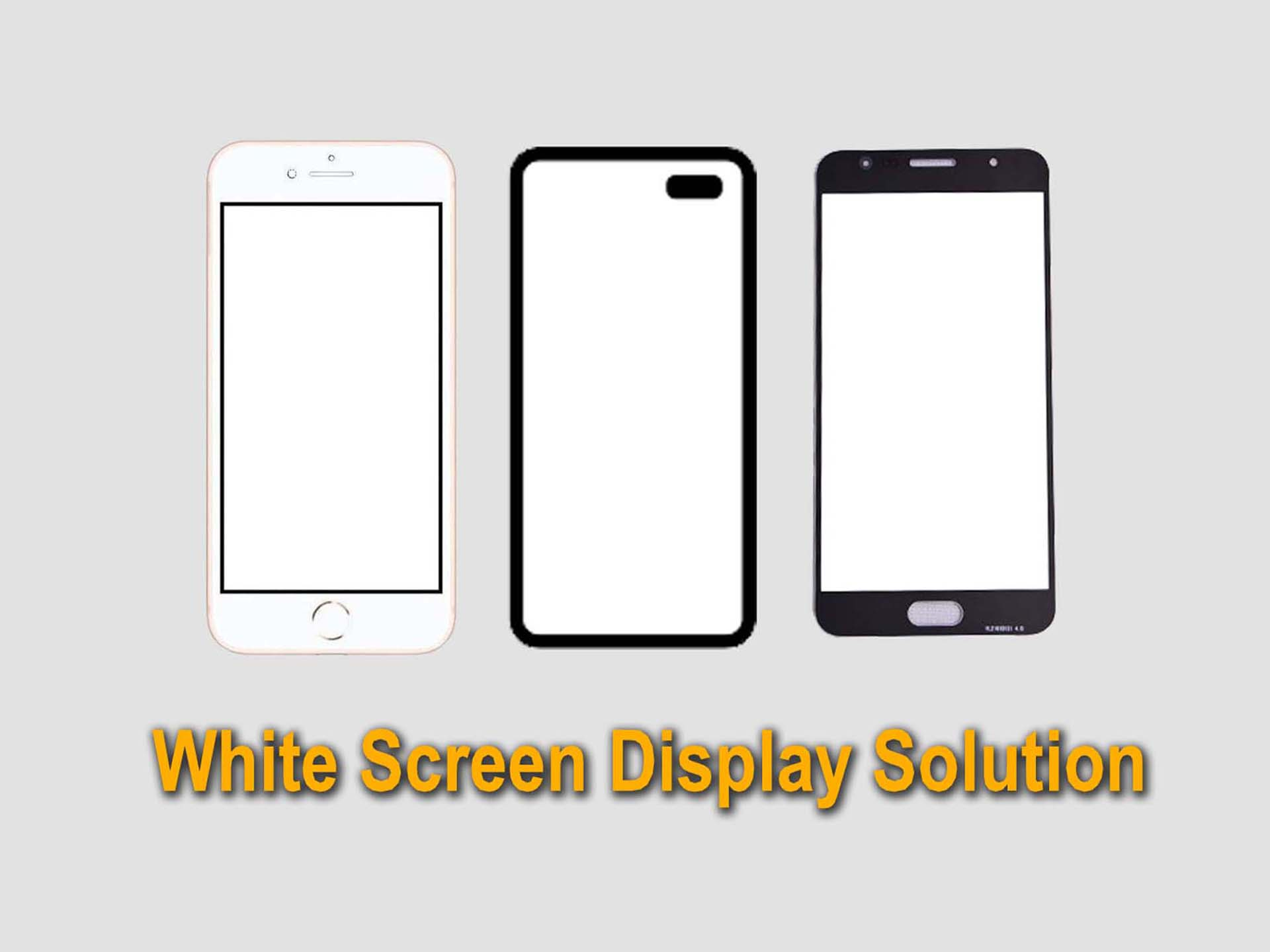 White Screen Display Repairing মোবাইলের ডিসপ্লে সাদা