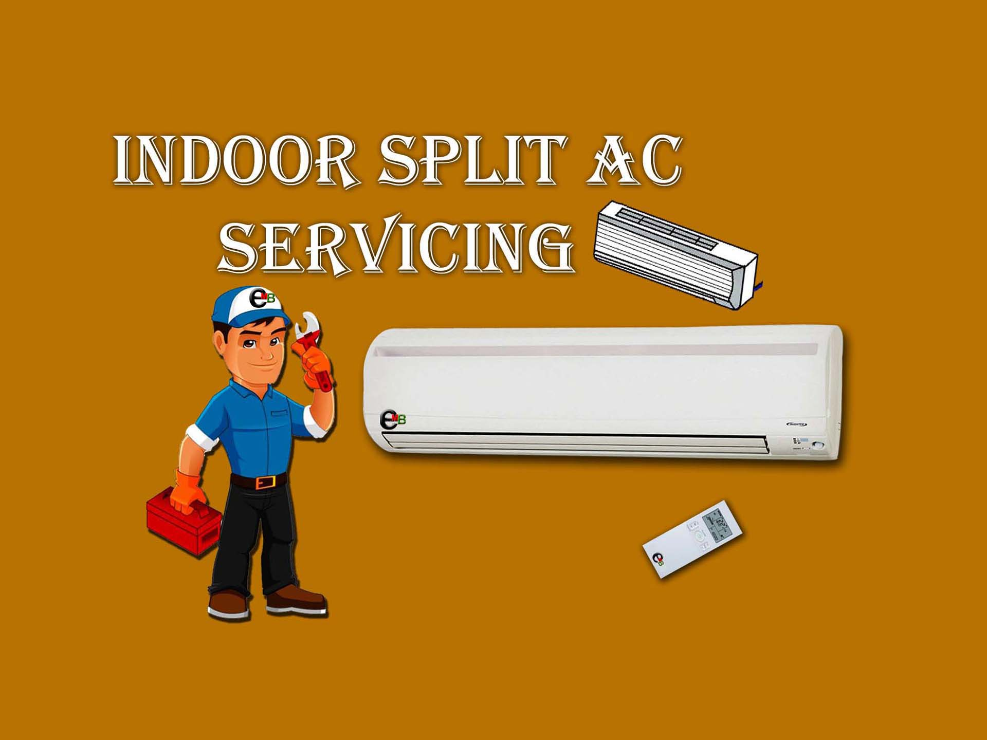 এসি সার্ভিসিং-Indoor ac servicing